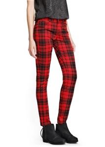 pantalon extensible carreaux écossais mango  34,99