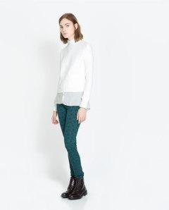 pantalon imprimé fleur zara 25, 95