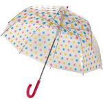 parapluie susino 15,90-transparent-a-pois-multicolores